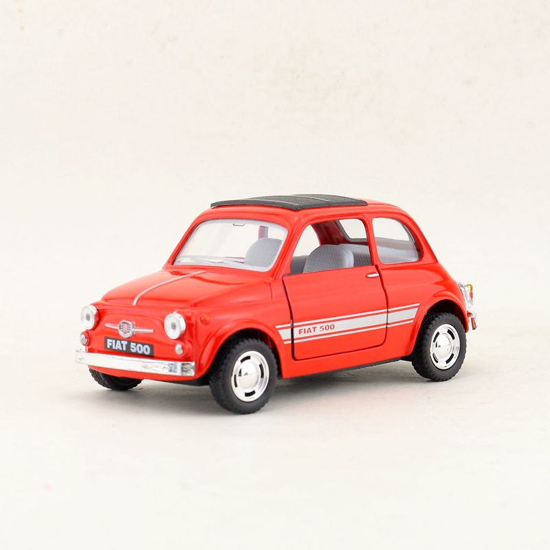 1:24 Alloy Pull Back Car Toys, High Imitation 2 Open Door Fiat 500,metal Castings,High Quality Collection,free Shipping