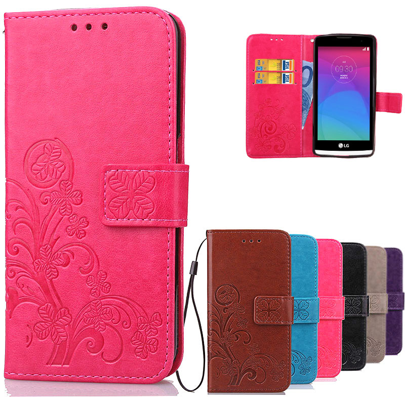 Luxury Leather Wallet Flip <font><b>Case</b></font> For <font><b>LG</b></font> <font><b>Leon</b></font> C40 C50 <font><b>4G</b></font> <font><b>LTE</b></font> H340N H320 H 324 H324 Silicone Phone <font><b>Case</b></font> Back Cover With Card Slots image