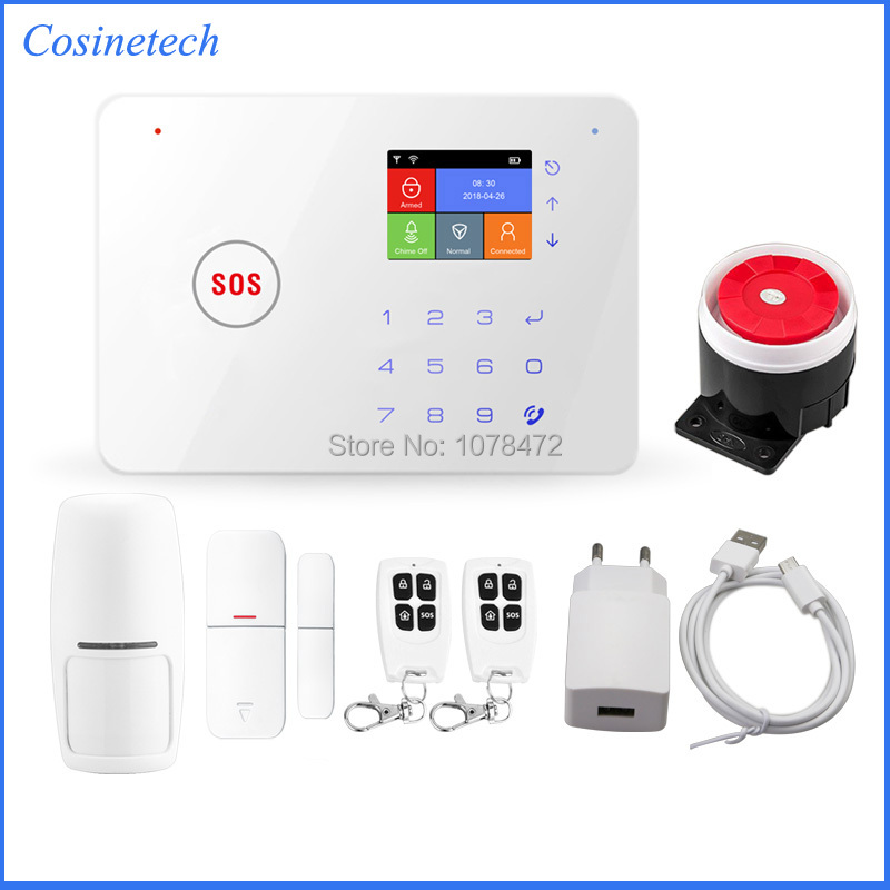 Brand New GSM WIFI alarm system iOS Android APP controlled home security alarm household safety home