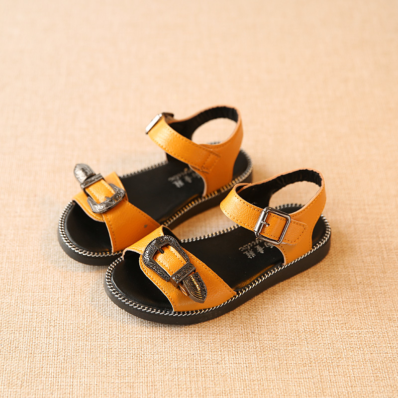 Hot Sale Summer Boys Sandals Kids Shoes PU Leather Childrens Beach Shoes Casual Sandals Fashion Good Quality EU 26-30
