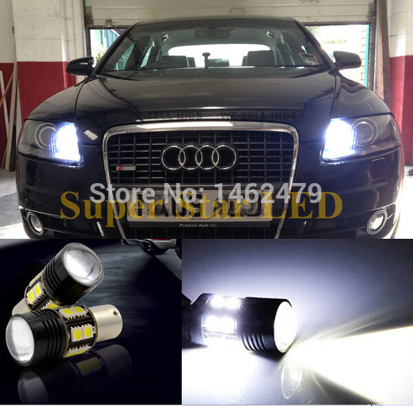 2 x Wit 6000 K 1156 7506 P21w Canbu Geen fout Q5 Chips Led-lampen Voor Audi A1 A3 A6 S3 Q7 Etc DRL Dagrijverlichting