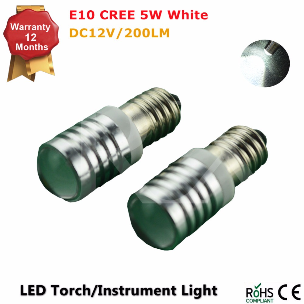 2pcs/lot 300LM CANBUS white high power 5w T10 E10 BA9S BAX9S BAY9S screw base LED reverse torch headlight flashlight bulb AC12V