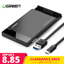 Ugreen Caso HDD 2.5 SATA a USB 3.0 Adapter Hard Drive Enclosure per Disco SSD HDD Box di Tipo C 3.1 caso HD Esterno Box e Alloggiamenti per HDD(China)