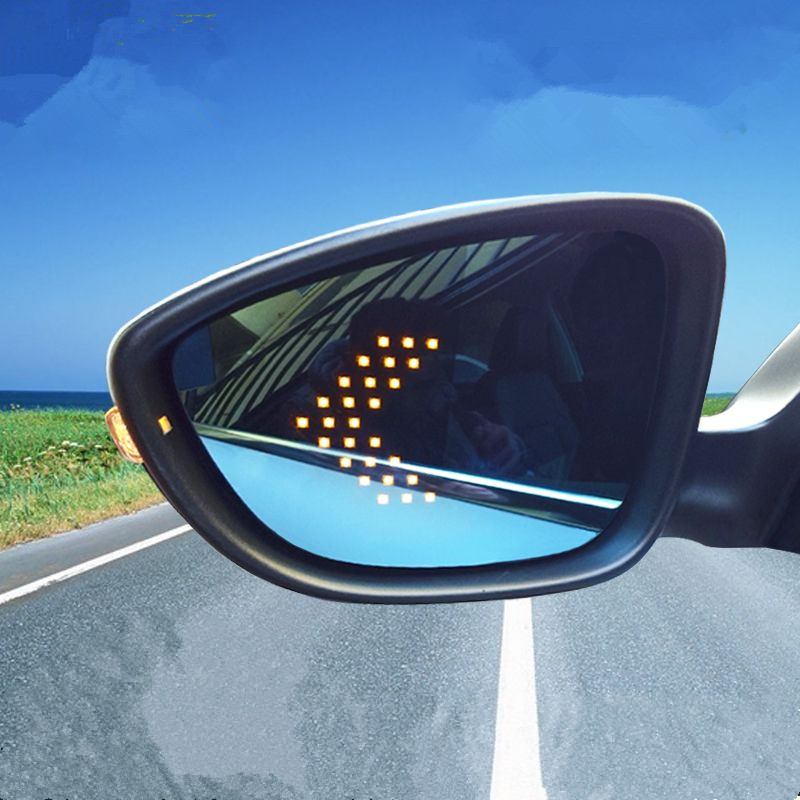 Power Heated Blue Wide Angle Sight Side Rear View Mirror Glasses For VW Bora 2016 /CC 2009 2016