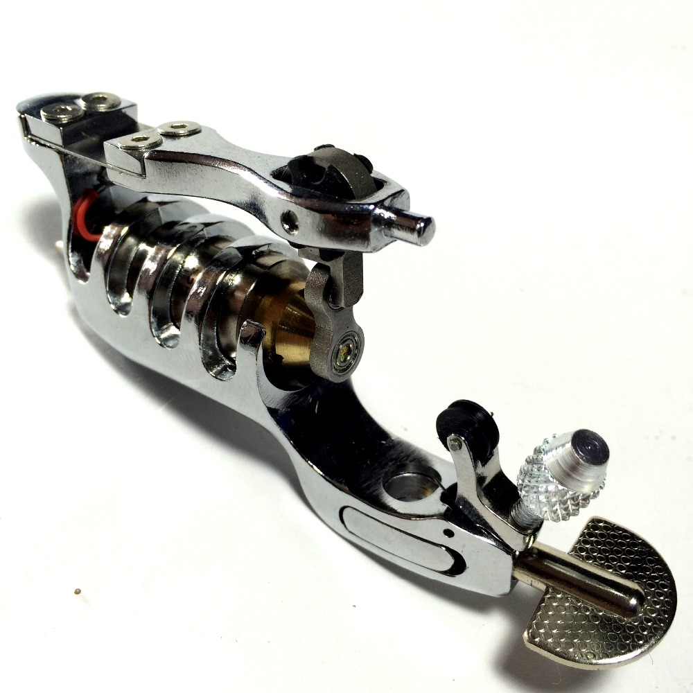 ФОТО Swiss Motor Rotary Motor Tattoo Machine Gun Liner Shade With Tattoo grip tip wooden box