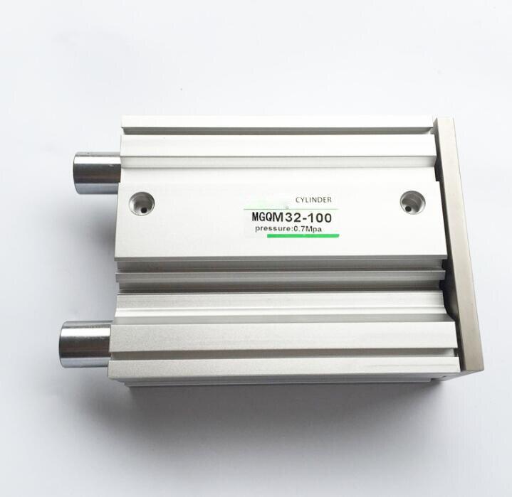 Alésage 16mm * 200mm course MGQM série roulement à glissière pneumatique Compact actionneur d'air Double effet Type