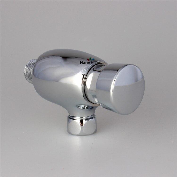 Латунь туалет писсуар Клапан руководство Ванная комната стул Клапан самозакрывающийся флеш времени продлен Пресс Тип в стене задержки пис...