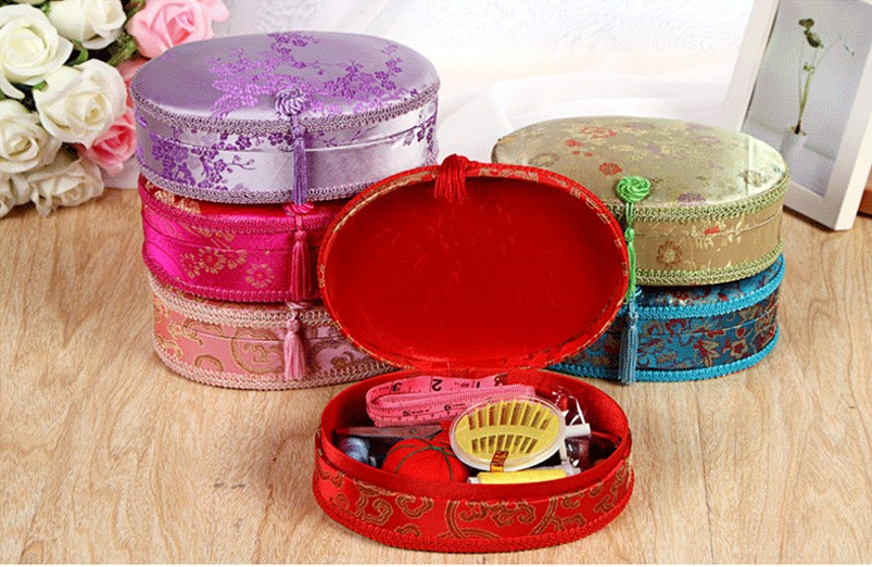 Chinois Couture De Coudre Sac Fil Kit Boîte Tissu À Ciseaux Broderie axSrq0w8a