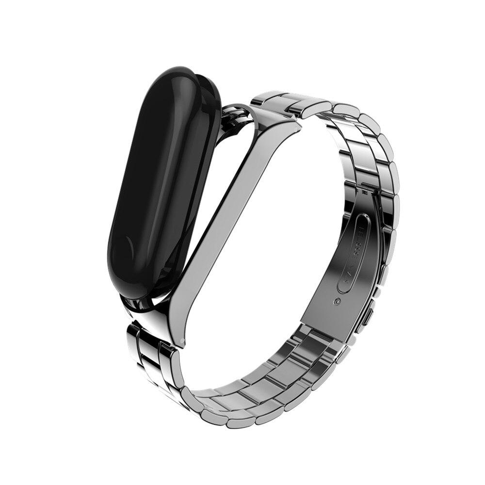 Bracelet en métal Pour Xiao mi mi Bande 3 Sans Vis En Acier Inoxydable Bracelet Pour mi Bande 3 Bracelets Remplacer Accessoires Pour mi Bande 3