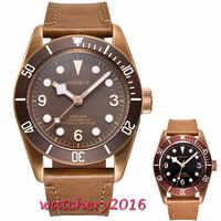 41 ミリメートル Corgeut ブラックダイヤルサファイアガラスロマンチックな甘いスーパー発光日付高級ブランド御代田自動移動メンズ腕時計