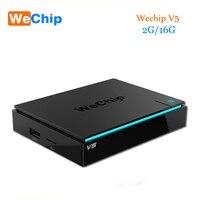 Original V5 WeChip S905X Amlogic Cuadro de TV Android 6.0 2G/16G KDPlayer 17.1 BT4.0 Dual Wifi Media Player mejor que x96 KDPlayer