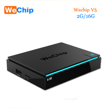D'origine WeChip V5 Amlogic S905X Android TV Box 6.0 2G/16G KDPlayer 17.1 BT4.0 Double Wifi Media Player mieux que x96 KDPlayer