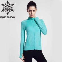ONE SNOW Women Running Jackets Clothing Quick-dry Long-sleeve Sportswear for Female   Sports Fitness Zipper Coat Outerwear