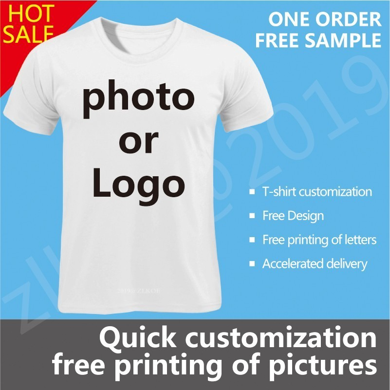 Your OWN Design Brand Logo Or Picture White Custom T-shirt Plus Size M-xxxl T Shirt Men Clothing Women T-shirts Hip Hiphop