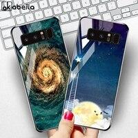 Ausgeglichenes Glas-Kasten für Samsung Galaxy Note 8 10 Hüllen Stern-Platz Fundas Samsung S10 Lite S8 S9 Plus-S10e S20 Ultra-Covers Etui
