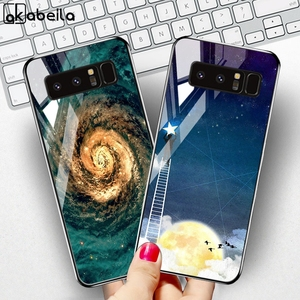Image 1 - Tempered Glass Case For Samsung Galaxy S10 Cases Star Space Fundas  Samsung Note 20 Ultra S20 10 Lite S8 S9 Plus S10e 8 Covers