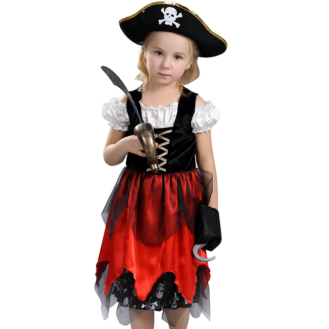 Awesome Fierce Pirate Lass Girls Halloween Costume Child Swashbucklin Buccaneer Outfit  sc 1 st  AliExpress.com & Awesome Fierce Pirate Lass Girls Halloween Costume Child ...