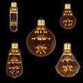 T30 A19 ST58 G95 G125 Diamante, 3 W 2200 K, DIODO EMISSOR de Luz Do Vintage Bulbo, Fogos de Artifício Estrelado, Decorativo Para Pingente Lâmpada, Pode Ser Escurecido