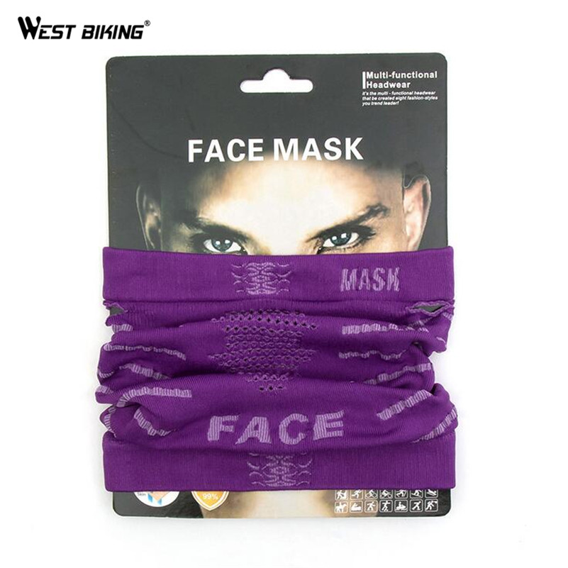 WEST BIKING Multifunction Magic Face Mask Protection Face Scarf Outdoor Sport Riding Hiking Bike Bicycle Cycling Face Mask