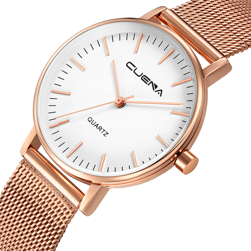 цена на CUENA Simple Fashion Women Watch Ladies Watches Top Brand Luxury Quartz Wristwatches Stainless Steel Relojes Relogio Feminino