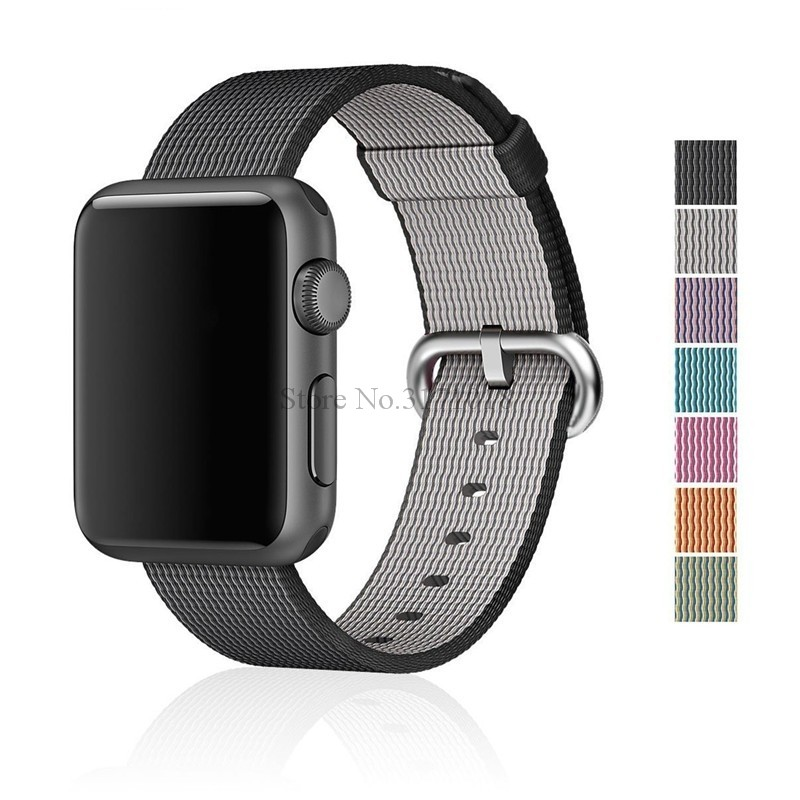 Sport Woven Nylon Band Strap For Apple Watch 42 mm 38mm Series 1 2 3 WatchBand Wrist Braclet Belt Fabric-like Nylon Band mu sen woven nylon band strap for apple watch band 42mm 38 mm sport fabric nylon bracelet watchband for iwatch 3 2 1 black