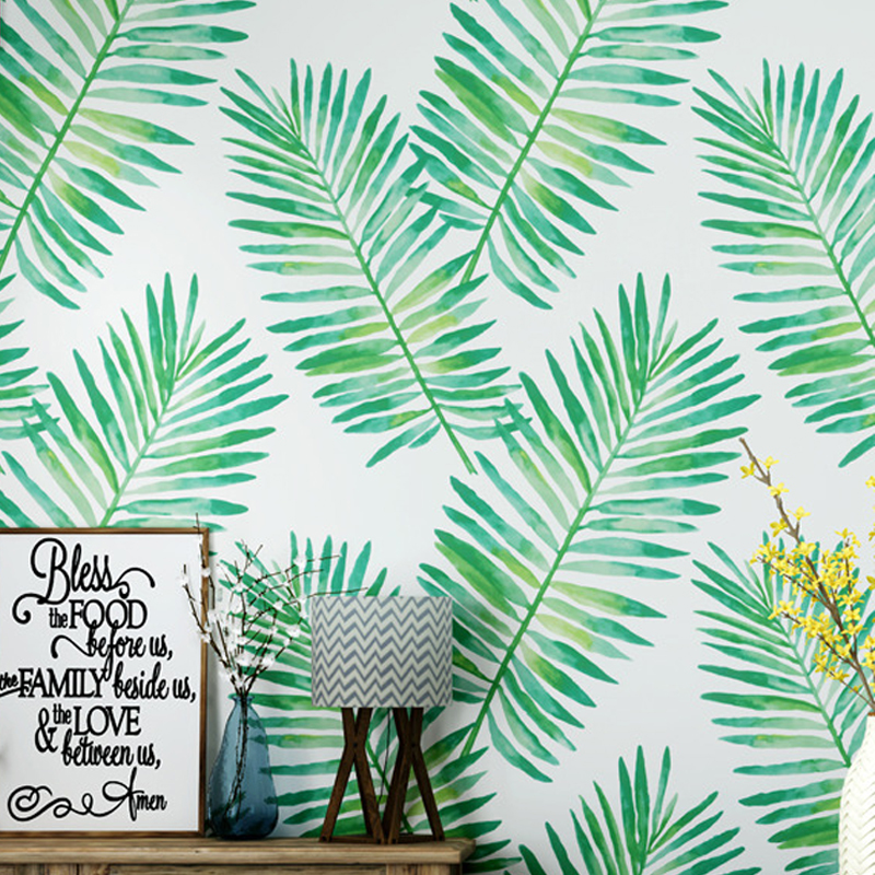 Green Banana Leaf Wall Paper Home Decor Ins Wallpapers for Living Room Walls The Paper House Mural mapa del mundo para pared стоимость