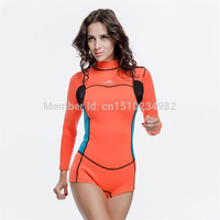 Sbart 2MM Neoprene Women Wetsuit Diving Suits Female Swimwear Snorkeling Scuba One Peice Swimsuit Rash Gaurds 2018