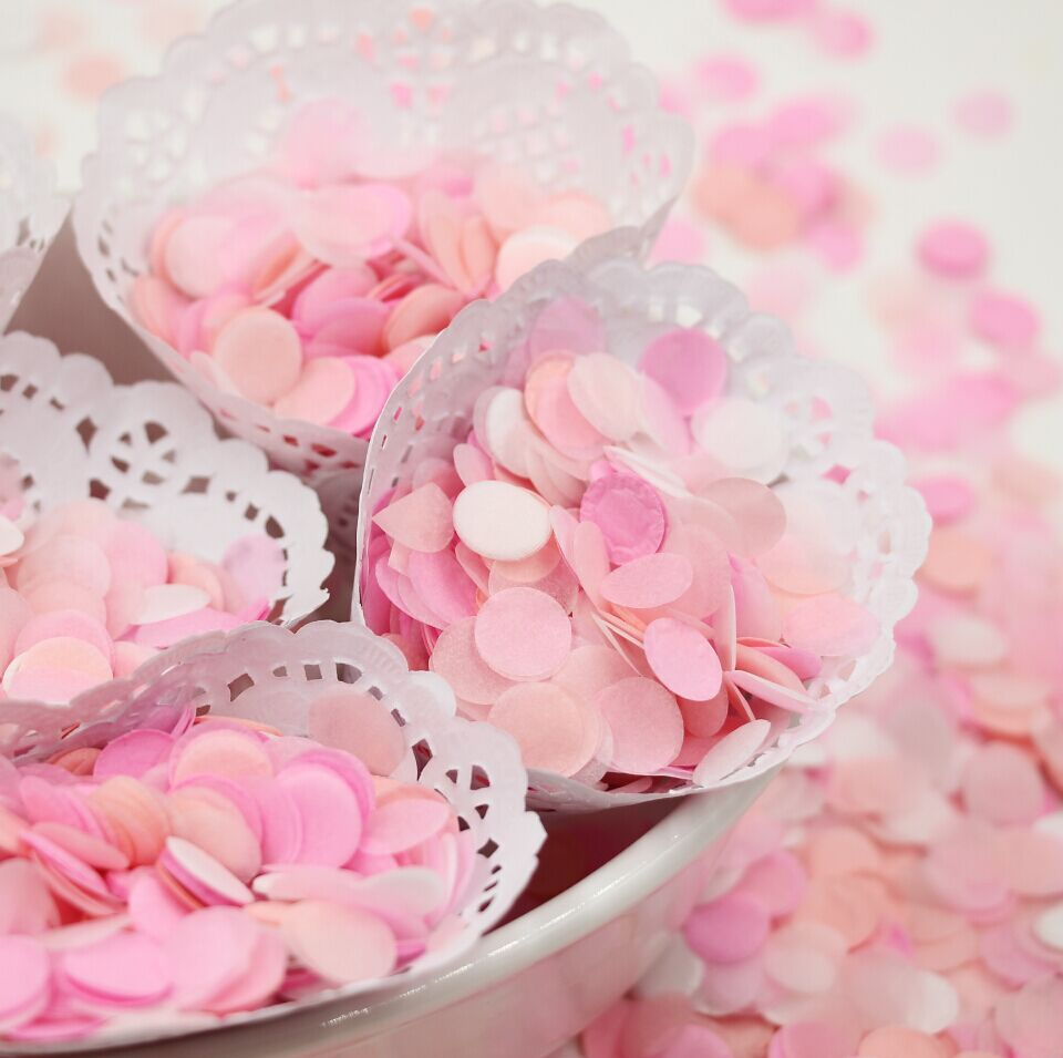 15000pcs/lot) 10mm Pink White Confetti Baby Girl Shower Balloons ...