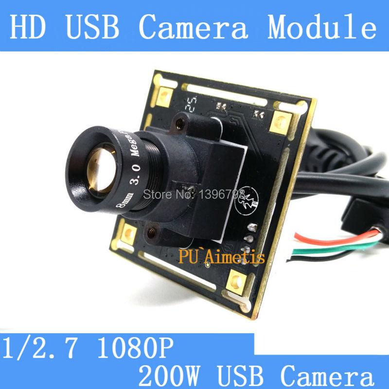 ФОТО  Mini Surveillance camera 1080p Full Hd MJPEG 30fps High Speed CMOS OV2710 Mini CCTV Android Linux UVC Webcam USB Camera Module