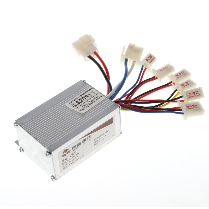 24V 250W Motor Brush Speed Controller for E-Bike Electric Bike Bicycle Scooter