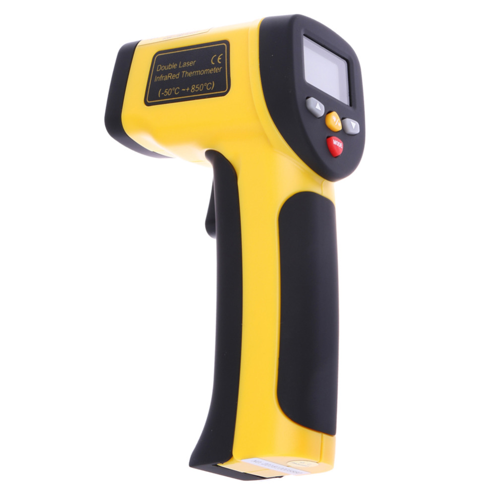 Digital Dual Laser Infrared Thermometer Non-contact IR High Temperature Gun Tester Pyrometer with Backlight LCD Display -50-850C цена 2016