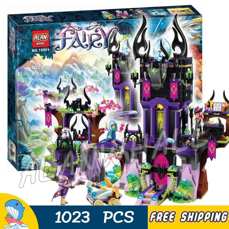 ФОТО 1023pcs New Ragana's Magic Shadow Castle Building Kit 3D Model Blocks Children Fairy Tale Princess Toys Compatible With lego