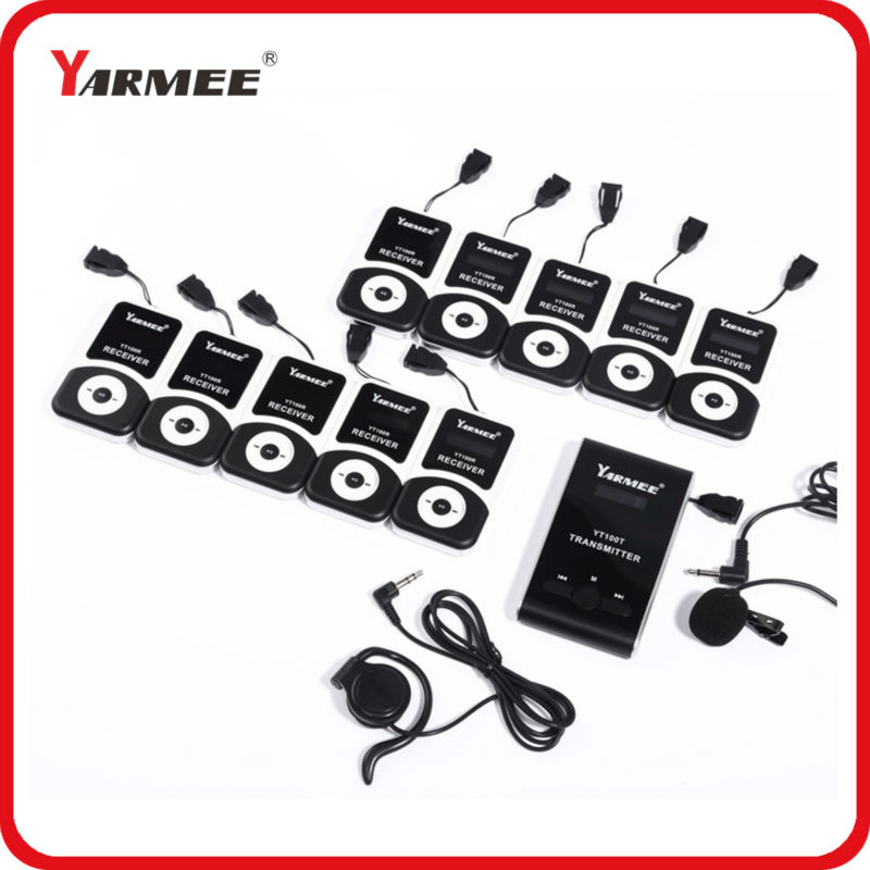 Top quality wireless guide system tour guide headset (1 transmitter+mic+1 receiver+earphone+charger)