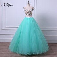 ADLN New Arrival Two Pieces Quinceanera Dresses V neck Cap Sleeve Vestido de Quinceanera Ball Gown Debutante Dress