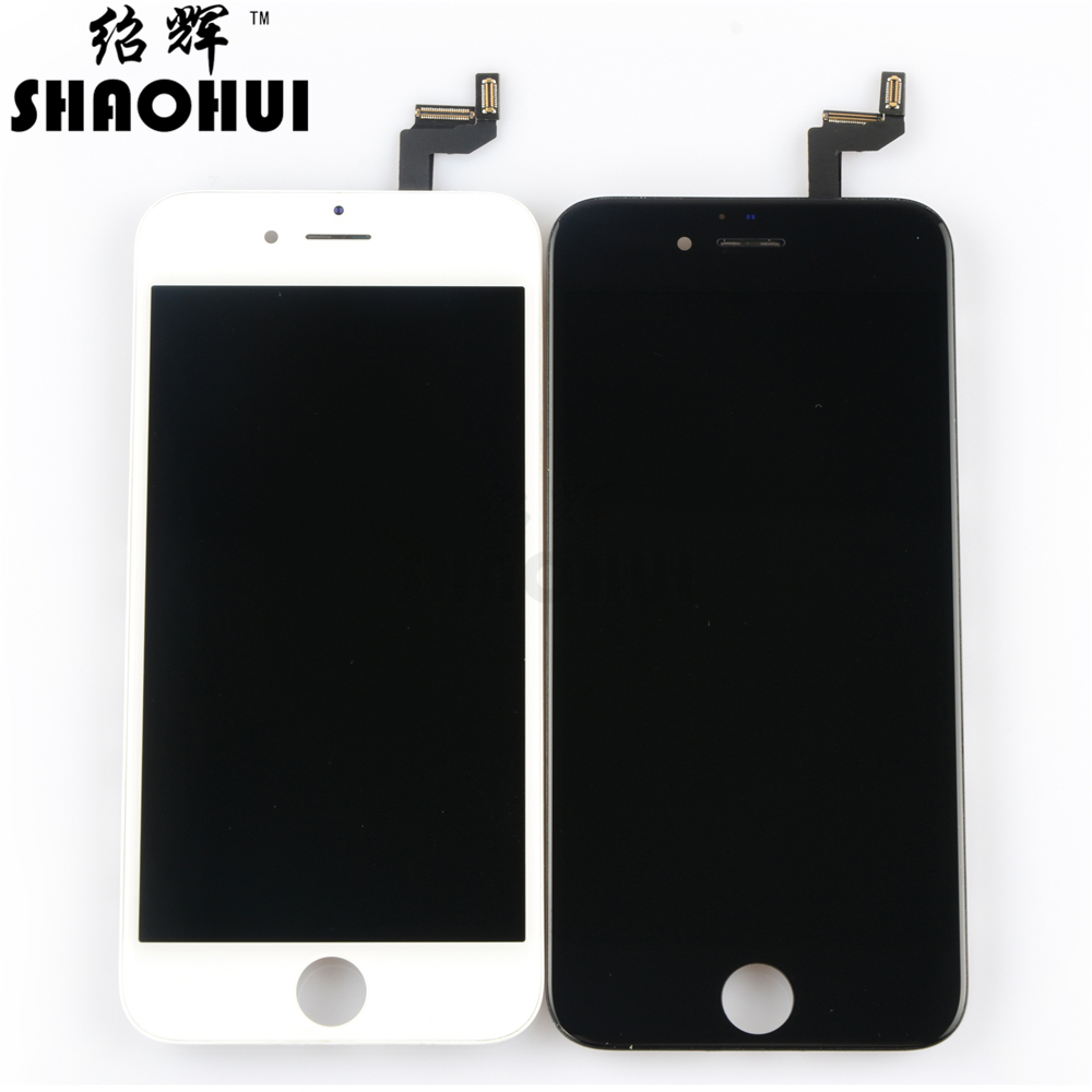 SHAOHUI For iPhone 6S Plus LCD 5.5 Display Screen +Touch Digitizer Replacement Assembly White Black free shipping