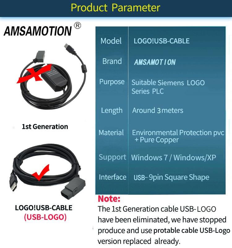 Amsamotion Isolated LOGO for Siemens USB-LOGO Series PLC