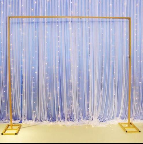 Новые Свадебные фоновая рамка телескопический полюс утолщенной оцинкованная трубка боковая трубка фон марли фоновая рамка
