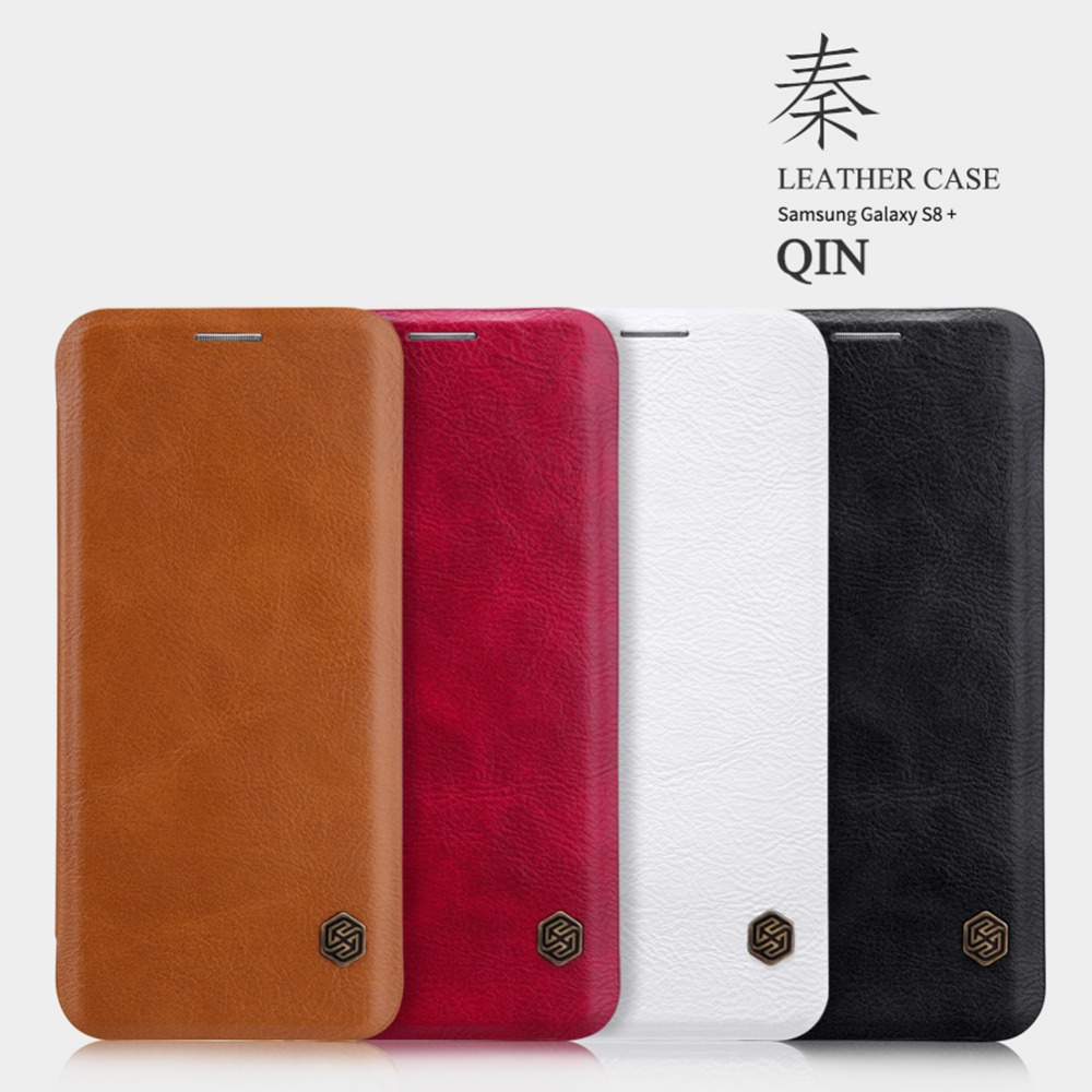 Nillkin Vintage Qin ultra flip PU leather cover case Wallet Leather Case For Samsung Galaxy S8 plus Card Holder phone cases