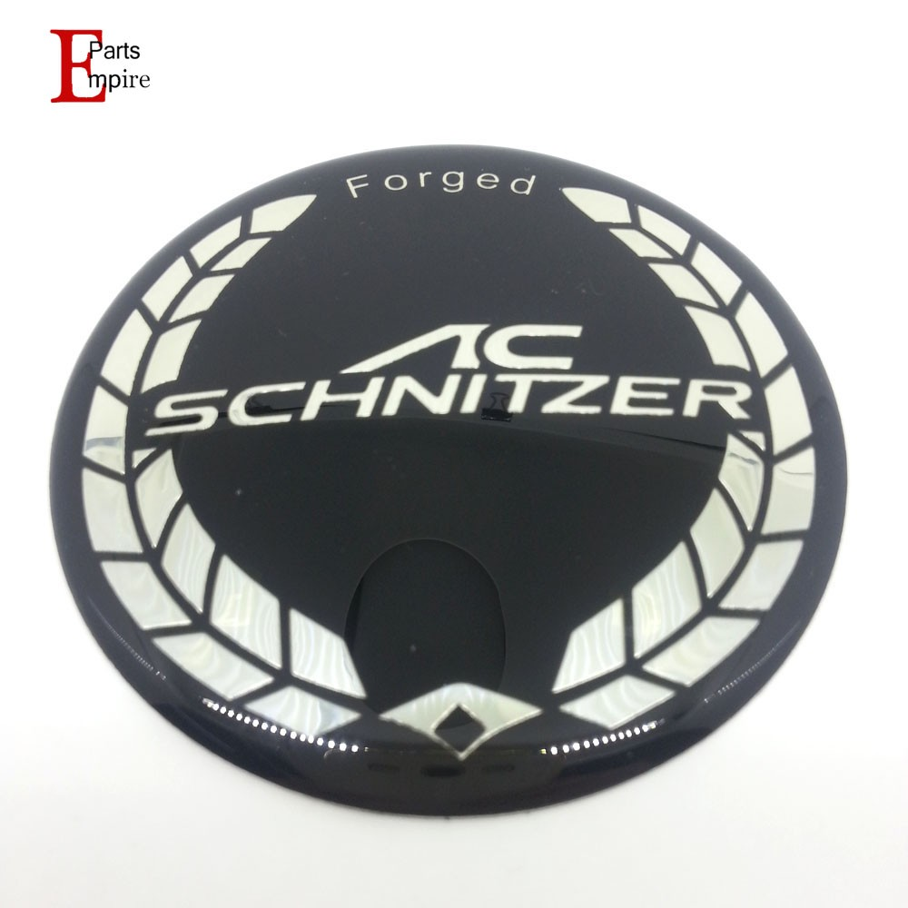 New 10pcs/lot 45mm White AC SCHNITZER Emblem For BMW Logo