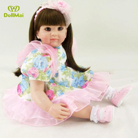 24/60 cm Doll Vintage Princess Silicone Reborn Baby Toddler Doll Toys for Children Girl Educatio Christmas Birthday Gift