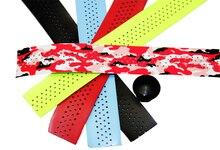1 pair of light Cycling Road Bike Sports Bicycle Cork Handlebar Tape Antishock Bicycle Grip Tape Band + Bar Plugs /4 colors