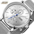 Top Brand JEDIR Chronograph Casual Men Military Quartz Watches Mens Luxury Full Stainless Steel Sport Watches Relogio Masculino