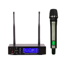 UHF Wireless  Microphone   Single-channel receiver LCD display For perfect sound  +free shipping