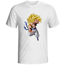Gogeta Super Saiyan 3 T Shirt Anime Cartoon Funny Skate Casual Style Short Sleeve T-shirt Hip Hop Fashion Cool Unisex Tee цена