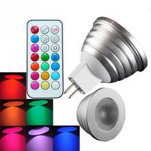 2 Pcs 4W RGB Light E27 With Remote Control Bulb Energy Saving Type Memory  Lamp RGB
