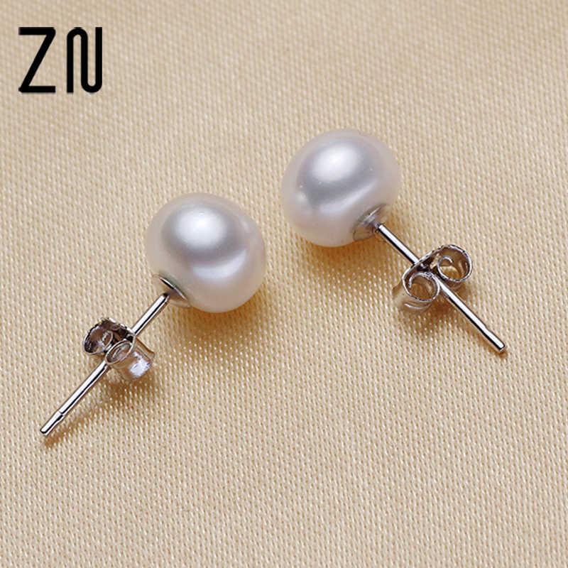 ZN 2017 موضة جديدة تقليد أقراط اللؤلؤ للنساء عالية الجودة أقراط مجوهرات مسمار