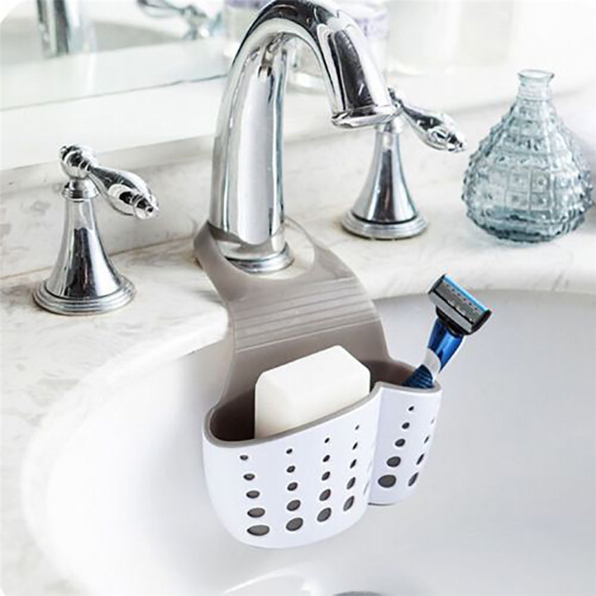 Sink Shelf Soap Sponge Drain Rack Bathroom Holder Kitchen Storage Suction Cup Kitchen Organizer Sink kitchen Accessories Wash