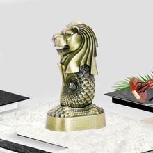 Home Decoration Metal Merlion Electroplating Crafts Creative Animal Alloy Gift European Style Rnaments Wedding Decoration(China)