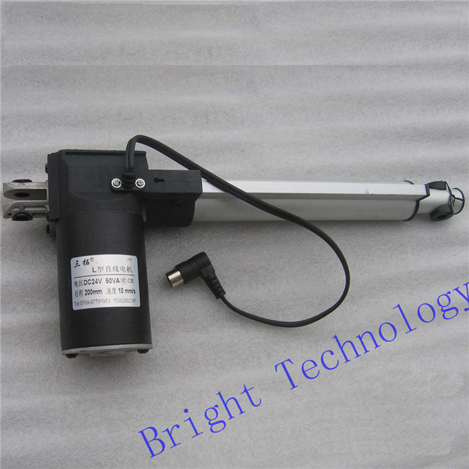 L200 8 inch(200mm) stroke, Electric linear actuator dc motor, DC 24V, 5/10/30mm/s, Heavy Duty Pusher 600/300/100Kg, high Quality l200 8 inch 200mm stroke electric linear actuator dc motor 12v 24v 5 10 15 30mm s heavy duty pusher progressive 600 300 100 70kg