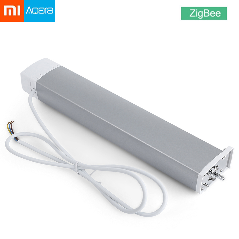 Xiaomi Aqara Intelligent Smart Curtain Motor ZiGBee Version Wifi xiaomi Smart Home Device Mi Home Smarphone APP Remote Control 2018 xiaomi ecological chain brand wima electro mechanical anti theft smart cylinder zigbee version mihome app control 5pcs keys